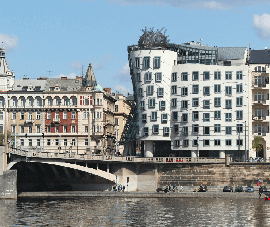 Stunning-view-of-a-Dancing-house