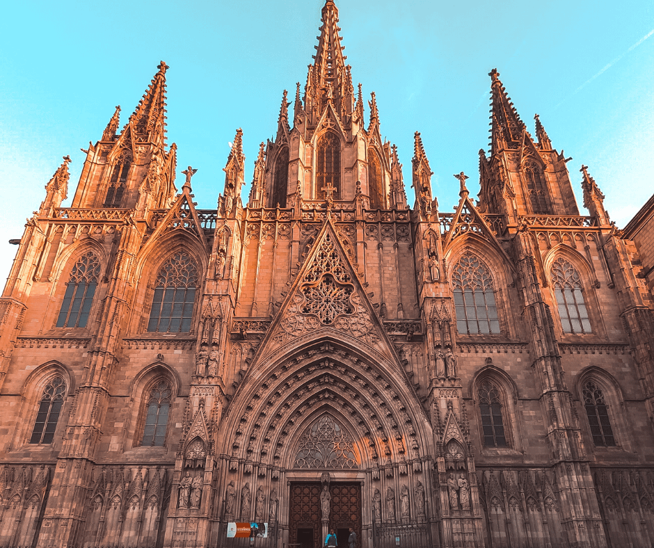 front-view-of-the-gothic-quarter Barcelona Attractions