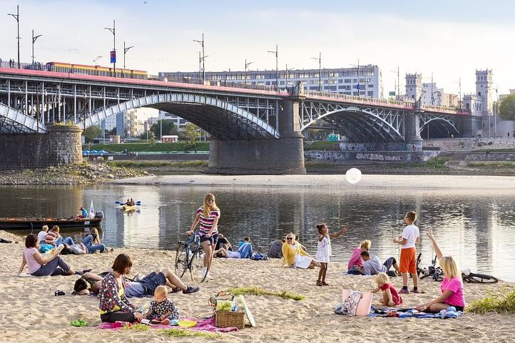 The Vistula River Beach