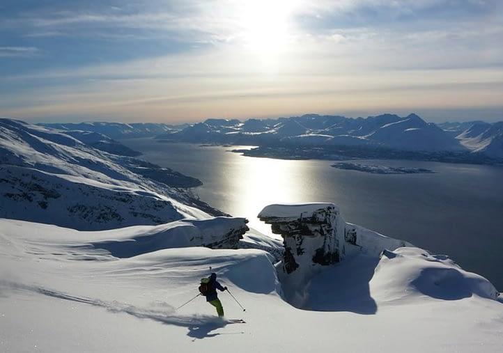 Skiing in the Lyngen Alps