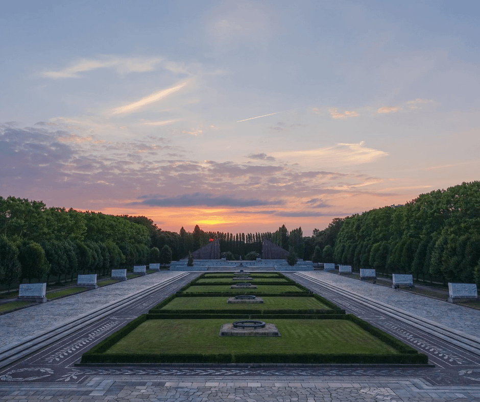 aesthetically-pleasing-view-of-the-treptower-park-after-a-sunset
